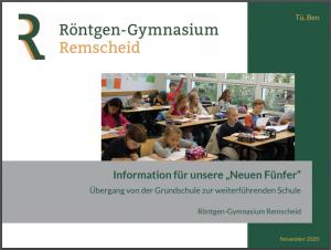 """Präsentation: Information für unsere """"Neuen Fünfer"""""""